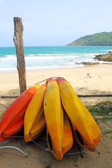 Free Surf Boards On Yanui Beach Stock Photo - 21050760