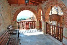 Free Balcony Monastery Royalty Free Stock Image - 21051136