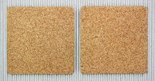 Free Two Blank Corkboards On Corrugated Paper Royalty Free Stock Image - 21051336