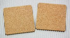 Free Two Blank Corkboards On Corrugated Paper Royalty Free Stock Images - 21051389