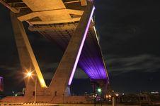 Free Bhumibol Bridge Royalty Free Stock Photography - 21051507