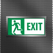 Free Exit Sign Stock Photography - 21051552