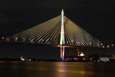 Free Bhumibol Bridge Royalty Free Stock Images - 21051789