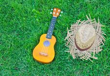 Free Ukulele With Hat Stock Photography - 21052352