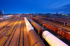 Free Freight Station With Trains Stock Image - 21052491