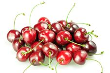 Free Heap Of Cherries Isolated Royalty Free Stock Photos - 21052618