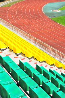Free Rows Of Plastic Chairs At The Stadium Stock Image - 21052771