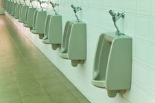 Free A Row Of Urinals Stock Photo - 21052880