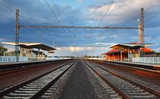 Free Passenger Train Station Royalty Free Stock Photography - 21053107