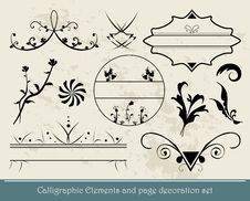 Free Calligraphic Elements Royalty Free Stock Photos - 21053978