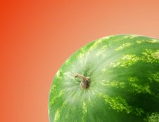 Free Ripe Watermelon On A Red Background Royalty Free Stock Images - 21054149