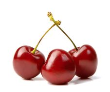 Free Three Cherries Stock Images - 21054174
