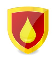 Free Elegance Gold Emblem And Drop Sign Stock Image - 21054391
