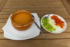 Andalusian Gazpacho Royalty Free Stock Photography