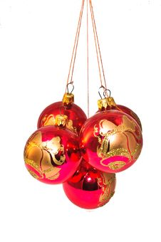 Free Christmas Decorations In Different Colors Royalty Free Stock Images - 21055329