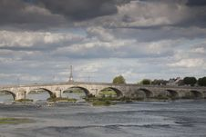 Bridge, Loire River, Blois Royalty Free Stock Photo