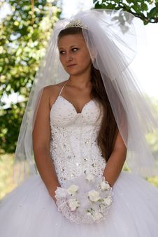 Free Bride With Bouquet Stock Photo - 21055710