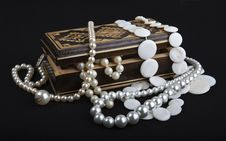 Free Casket With Pearls Royalty Free Stock Image - 21055806