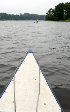 Free Paddling Over The Lake Stock Photography - 21056062