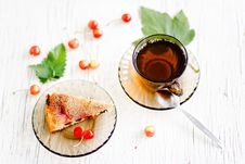 Free Herbal Tea And Biscuit Cake Royalty Free Stock Image - 21056446
