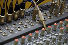 Free Mixing Desks & Jack Audio Connector Stock Photos - 21056843