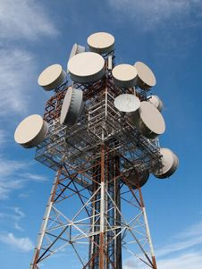 Free Satellite Tower At Mt Gravatt Lookout Stock Photos - 21057833