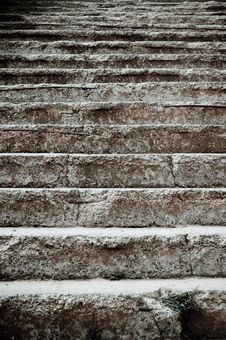 Free Closeup Of The Old Stairs Stock Image - 21058161