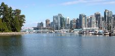 Free Burrard Inlet Marina & Vancouver BC Skyline. Stock Photography - 21058962