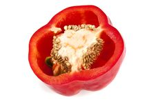 Red Bell Pepper Portion Royalty Free Stock Image