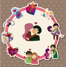 Cartoon Love Card Stock Image