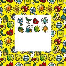 Free Cartoon Eco Card Royalty Free Stock Photo - 21059165