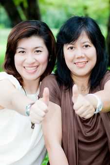 Free Portrait Of Two Asian Women Royalty Free Stock Photography - 21059227