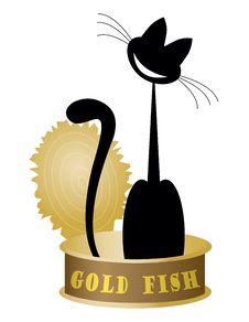 Free Cat On Tuna Fish Royalty Free Stock Photo - 21059345