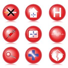 Free Medical Icons Stock Image - 21059521