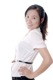 Sassy Asian Woman Royalty Free Stock Photography