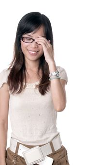 Free Shy Smile Of Beautiful Girl Stock Photos - 21059943