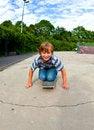 Free Boy Enjoys Skating At The Skate Royalty Free Stock Image - 21060206