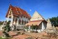 Free Beautiful Mon And Thai Architecture At Chomphuwek Stock Photo - 21065920