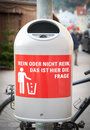 Free Dustbin In The City Royalty Free Stock Images - 21066199