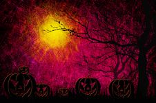 Free Grunge Textured Halloween Night Background Stock Photos - 21060283