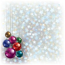 Free Christmas Greeting With Decorations Stock Images - 21060304