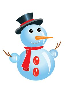 Free Snowman Royalty Free Stock Photography - 21060317