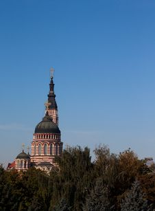 Free Top Of Cathedral In The Clear Sky Stock Photography - 21060352