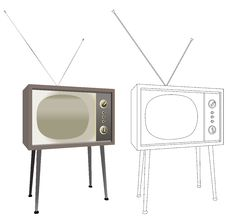 Free Old Tv Vintage Royalty Free Stock Images - 21061519