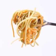 Free Spaghetti On A Fork Royalty Free Stock Images - 21061609