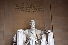 Free Statue Of Abraham Lincoln At Stock Images - 21061854