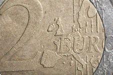 Free Euro Coin Royalty Free Stock Photo - 21062115