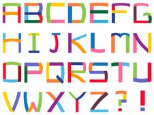 Free Colorful Alphabet Royalty Free Stock Images - 21062949