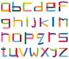 Free Colorful Lower Case Alphabet Royalty Free Stock Images - 21062969