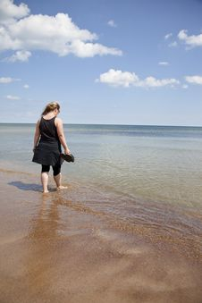 Free Walking In The Water Stock Photo - 21063380